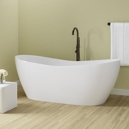 72 Crofton Acrylic Double Slipper Freestanding Tub With Images