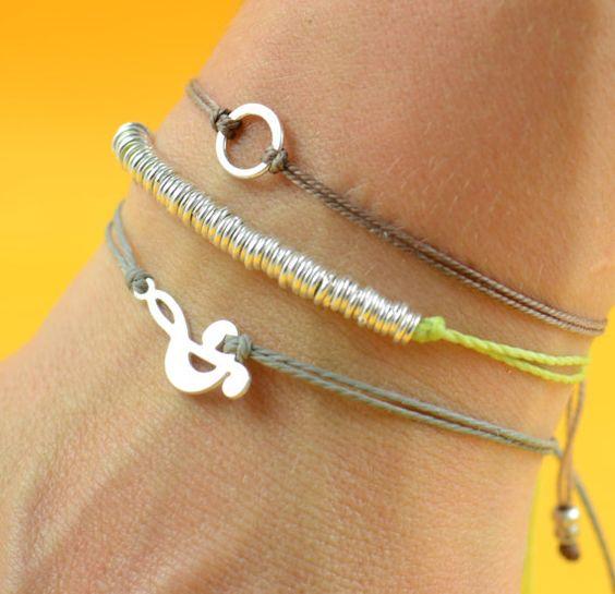 bracelets argent sterling and simple on pinterest. Black Bedroom Furniture Sets. Home Design Ideas