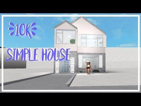 10k House Bloxburg Simple Youtube Building A House Modern