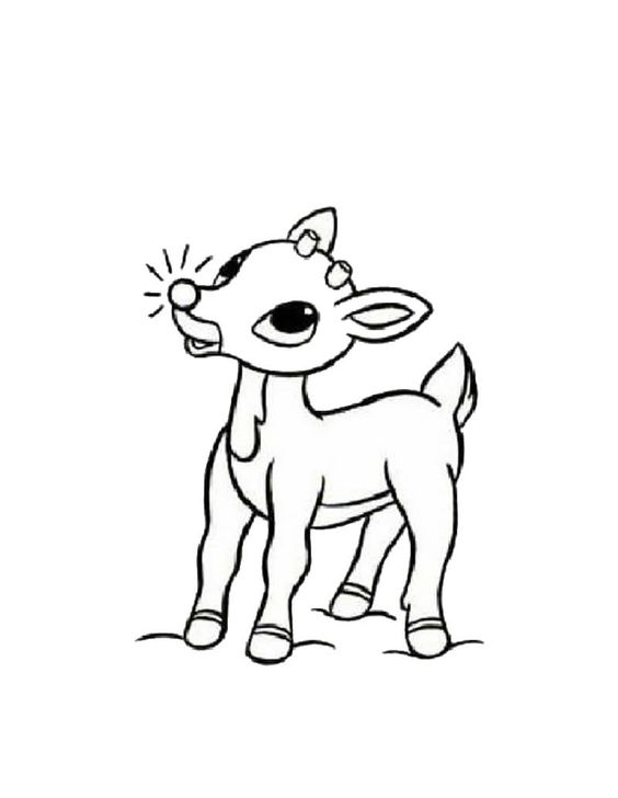 Rudolph the red-nosed reindeer coloring page | Christmas ...