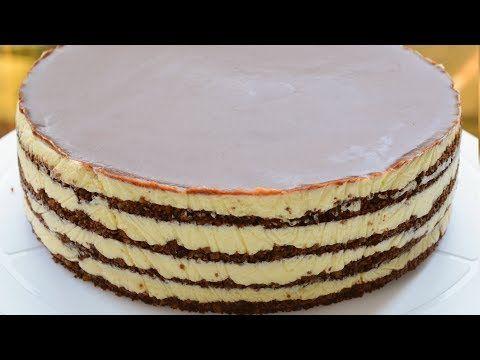 4 Qatli Sobasiz Sokoladli Tort Agizda Eriyir Youtube Cake Desserts Vanilla Cake