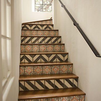 Designs for stair risers stair riser tiles design ideas - Stair riser decoration ideas ...
