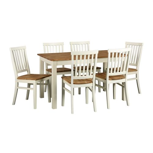 Portobello Painted Dining Set with 6 Chairs (E124) with Free Delivery | The Cotswold Company