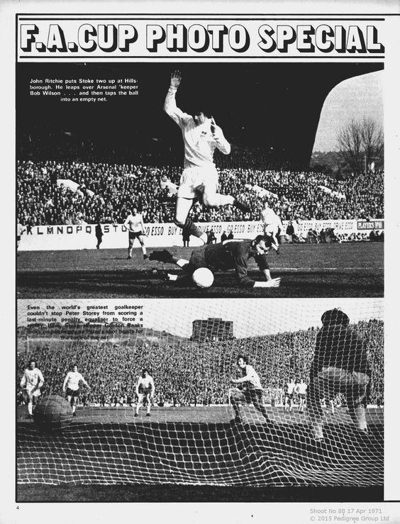 Goals from Arsenal v Stoke City 1971 Shoot Magazine