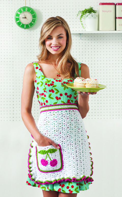 Cherry on Top Apron | crochet today