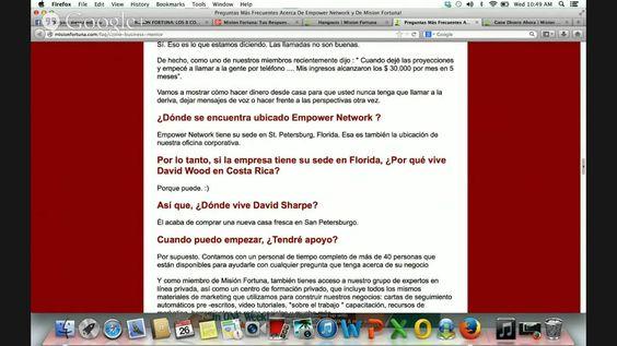 http www MisionFortuna com para mas informacion en la pagina de entrenamientos de Mision Fortuna Elena Fraga es la Fundadora de Mision Fortuna 1 305 297 77