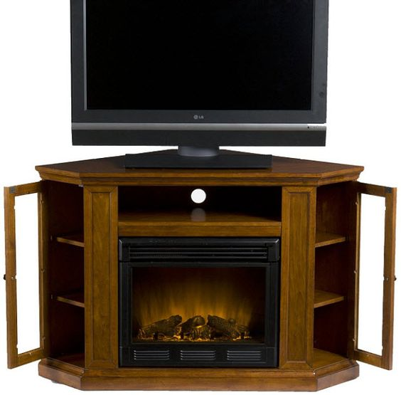Corner Electric Fireplace Electric Fireplaces And Tvs On Pinterest