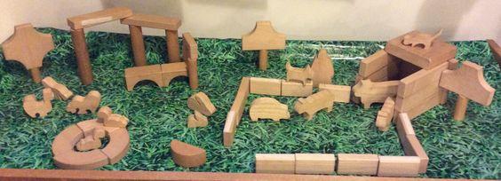 wooden blocks- farm