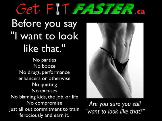 A whole lot of commitment, dedication and determination required, but it IS worth it! Join us @ www.getfitfaster.ca for motivation, workouts and health and fitness information which will help you reach your goals!