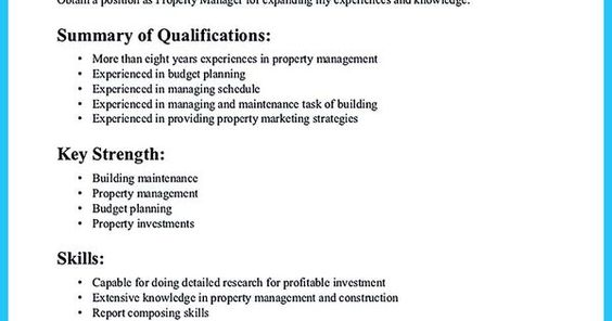 Writing a Great Assistant Property Manager Resume share Pinterest - property manager resume