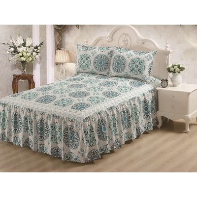 Glory Home Design Hailey Panel Bed Skirt Size: