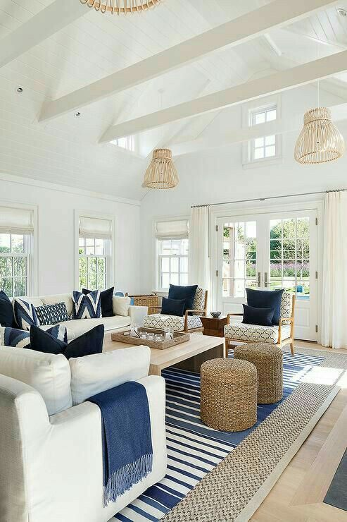 Pin By Jetty Home On Beach Chic Decor Cottage Living Rooms