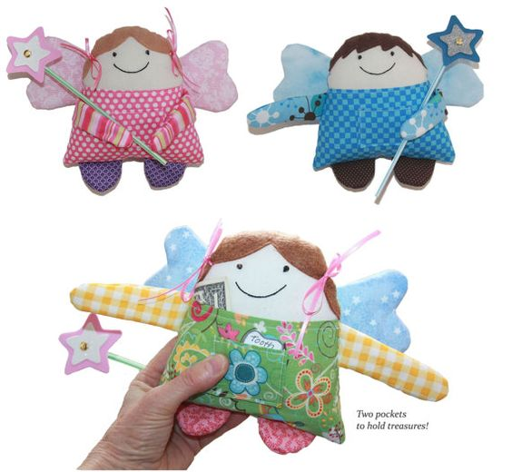 Pattern PDF for Tooth Fairy Angel Boy & Girl by BecomingBearsETC