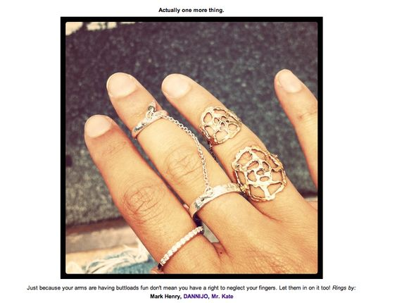 the man repeller   The Man Repeller shows off her Mr. Kate Dreamcatcher Lattice Ring in ...