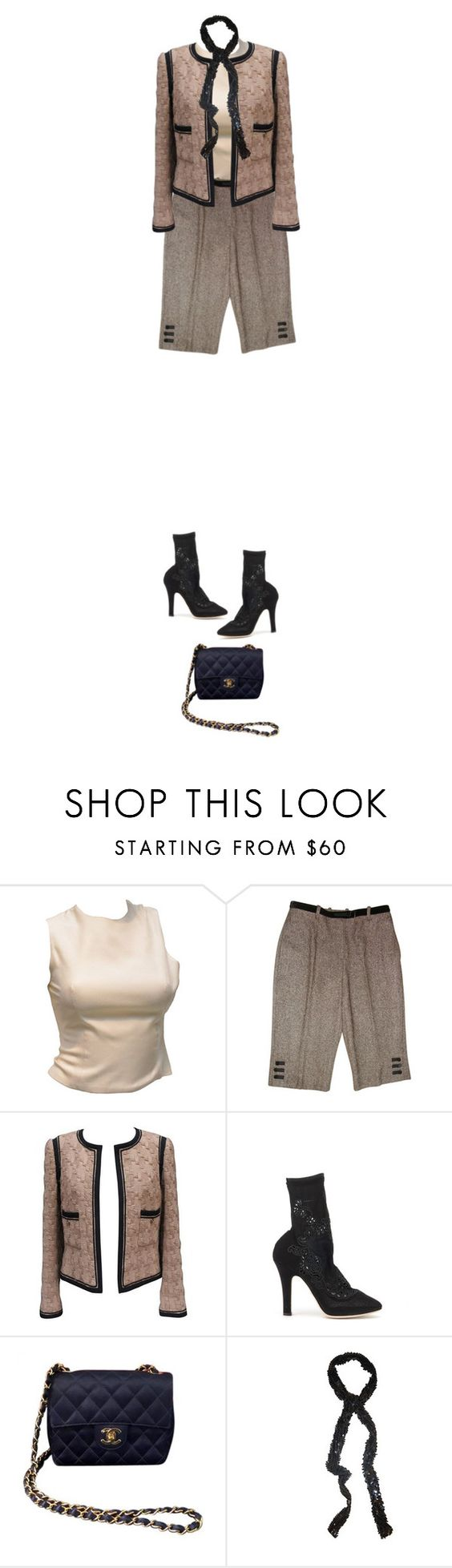 """""""mild weather."""" by sharplilteeth ❤ liked on Polyvore featuring Versace, Lanvin, Karl Lagerfeld, Dolce&Gabbana, Chanel, Aziina and spring2016"""