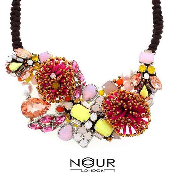 Flower Power... #flowers #summertime #floralfix #costumejewellery #affordable #quality #craftsmanship #statementnecklace #trade #nourlondon