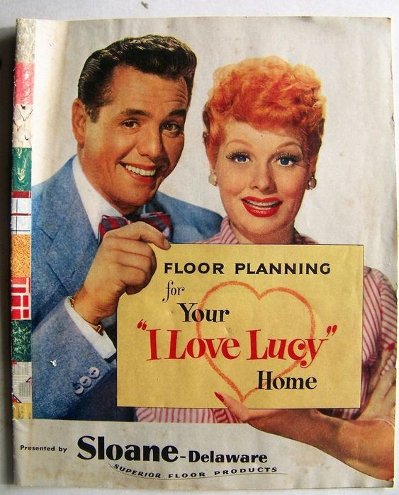 I Love Lucy advertising book Sloane Floor Products Lucille Ball Desi Arnaz 1953