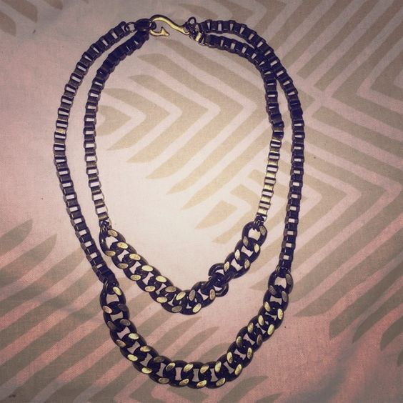 Urban Outfitters chain link necklace Brassy toned double necklace. Never worn. Perfect condition. Hook clasp. Urban Outfitters Jewelry Necklaces