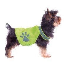 Chaleco con collar reflectante para paseos nocturnos en total seguridad. Se ajusta perfectamente al cuerpo de tu perro mediante velcro.