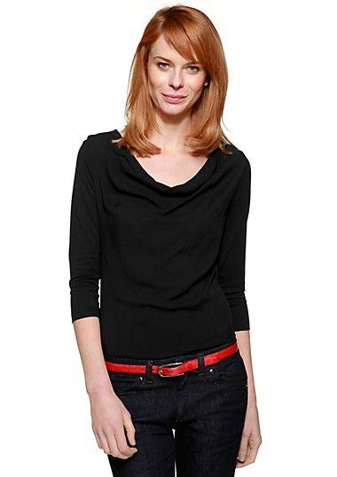 Shirt mit 3/4-Arm im s.Oliver Online Shop kaufen Z.B. zu Faltenrock, rot