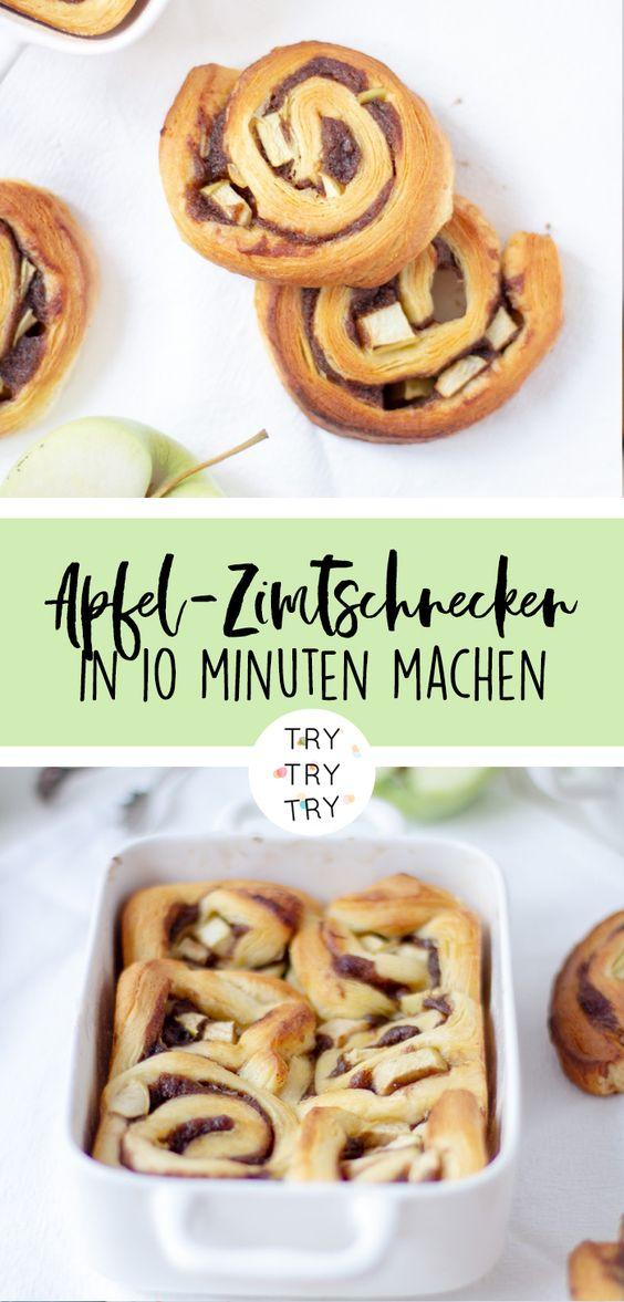 Apfel Zimtschnecken - perfektes Soulfood / Rezept für regnerische Herbst-Tage