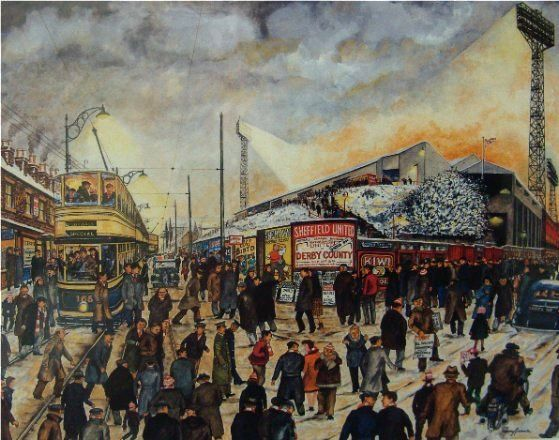 Football Special - Bramall Lane - Sheffield United   Terry Gorman   Art Gallery And Picture Framers