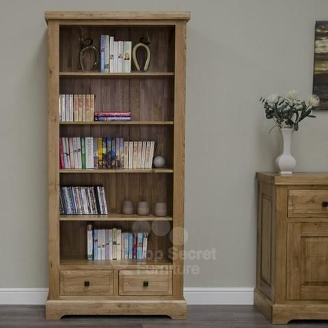 Dalton Large Bookcase 100 Solid Oak Furniture Large Bookcase Solid Oak Furniture Oak Furniture