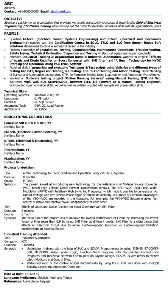 electric engineer professional resume samples template for fresher - layout engineer sample resume