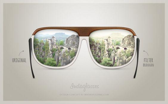 Concept Instaglasses 2012 by Markus Gerke, via Behance