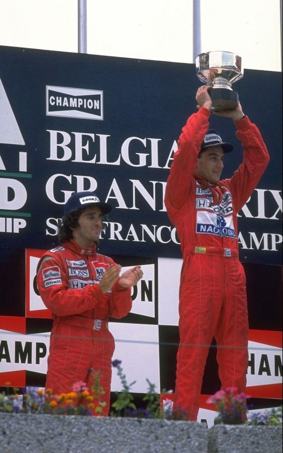 Ayrton Senna SPA Podium