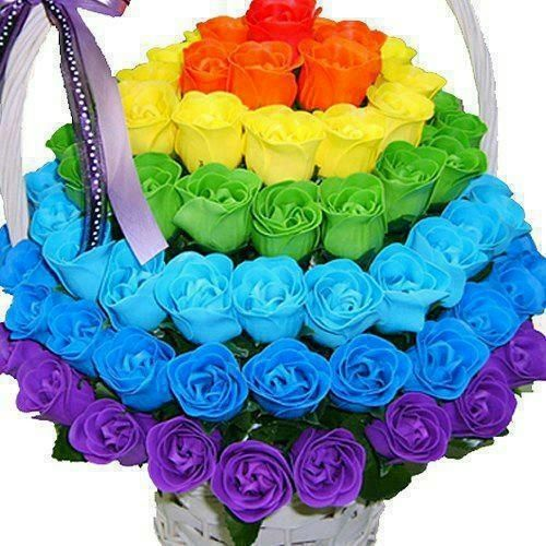 Roses rainbow roses and rainbows on pinterest for Pictures of rainbow roses