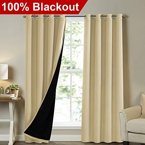 Turquoize Full Blackout Curtains 108 Inch Long Insulated Https Www Amazon Com Dp B07clf7dlr Ref Cm Sw Curtains Sound Proofing Insulated Blackout Curtains