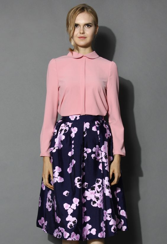 Loving Blouse in Sakura Pink - Shirt - Tops - Retro, Indie and Unique Fashion