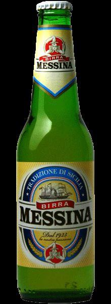 Cerveja Birra Messina, estilo Premium American Lager, produzida por , Itália. 4.7% ABV de álcool.