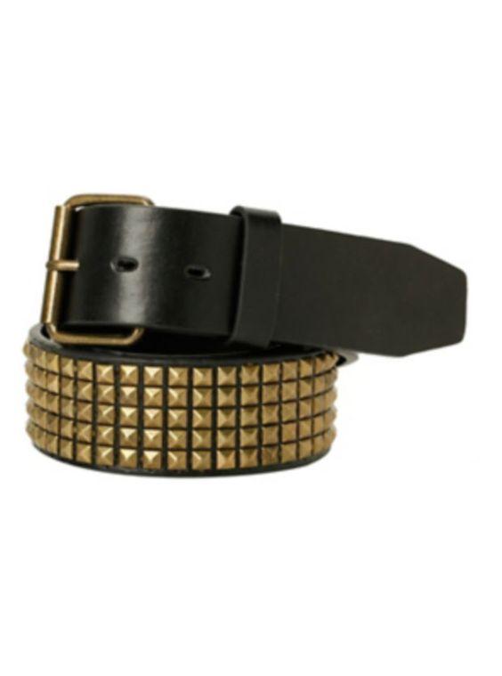 Black & Gold Mini Pyramid Stud Belt