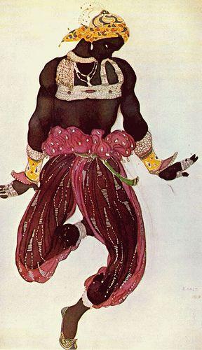 Schéhérazade - 1910 - costume de nègre, via Gradisca Victoria: