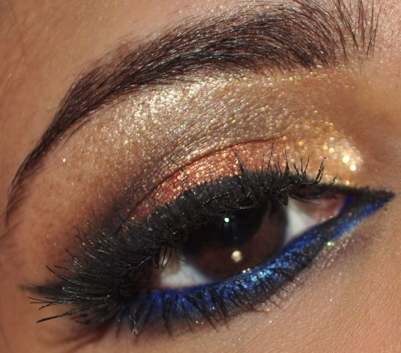 Copper and Bright Blue