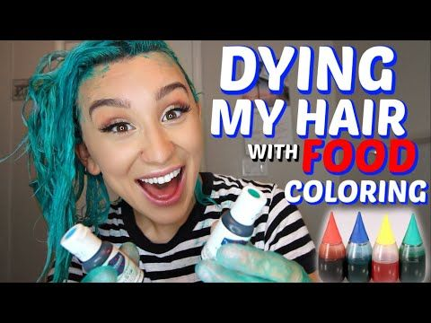 Dying My Hair With Food Coloring Hair Hack Youtube Food Coloring Hair Food Coloring Hair Dye Dying My Hair