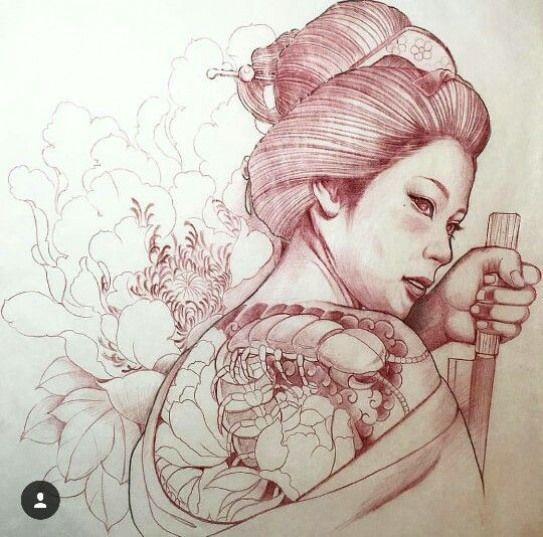 Japanesetattoos Japanese Tattoos Kimonos Geisha Tattoo Design Japanese Tattoo Geisha Tattoo