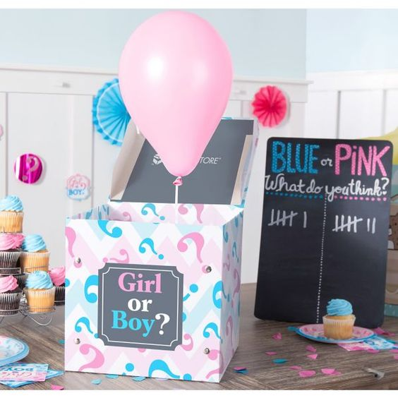Small Pink & Blue Gender Reveal Box
