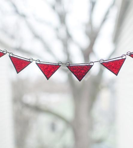 bandeirolas em vidro
