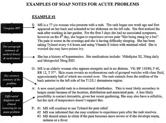how to write a soap note occupational therapy