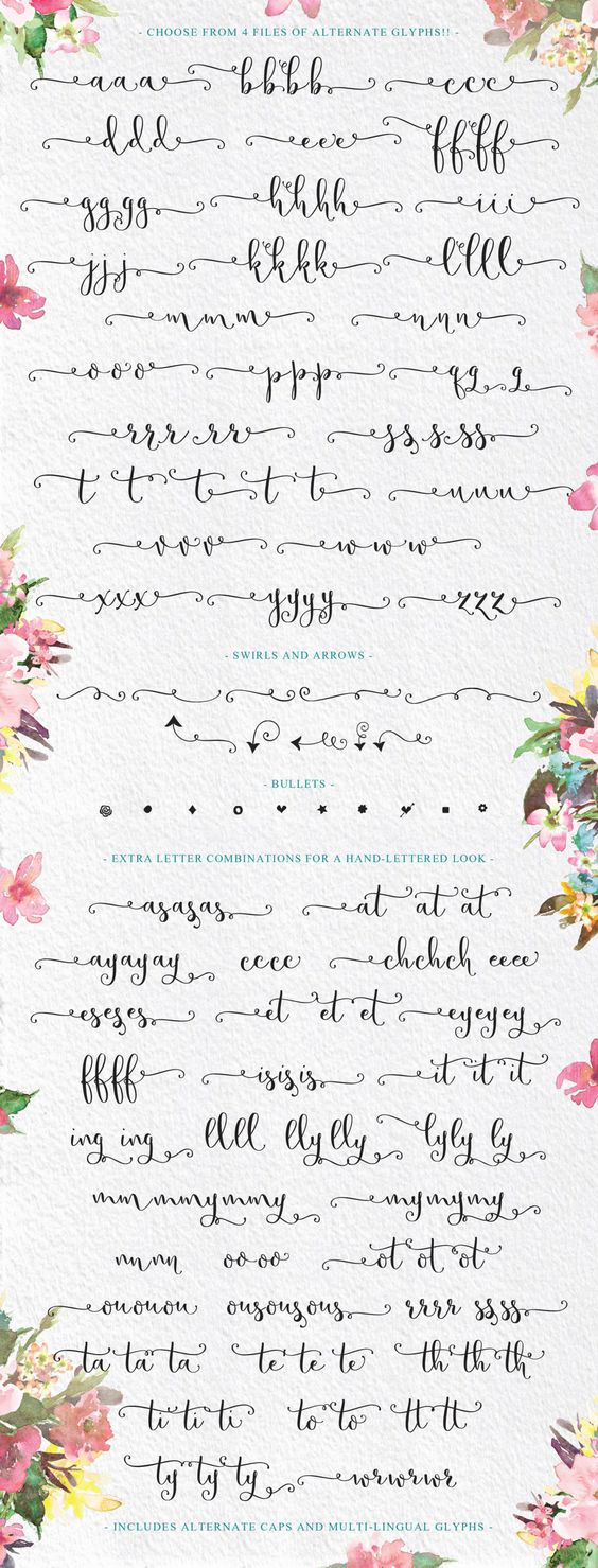 Butterfly Waltz Calligraphy Script with swashes and swirls