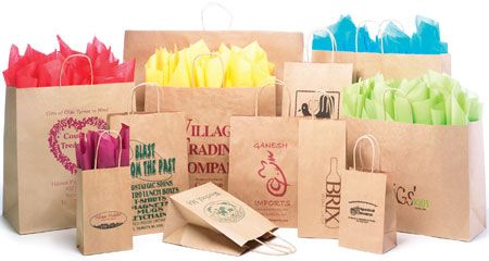 Natural Kraft Shopping Bags