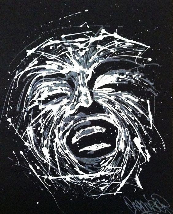 Tableau de Cyril VALADE, avec notamment de la peinture 3D DIAM'S