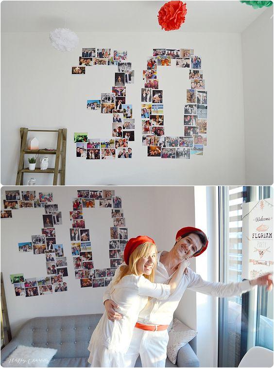 Anniversaire surprise des 30 ans: DIY décoration photos - Happy Chantilly