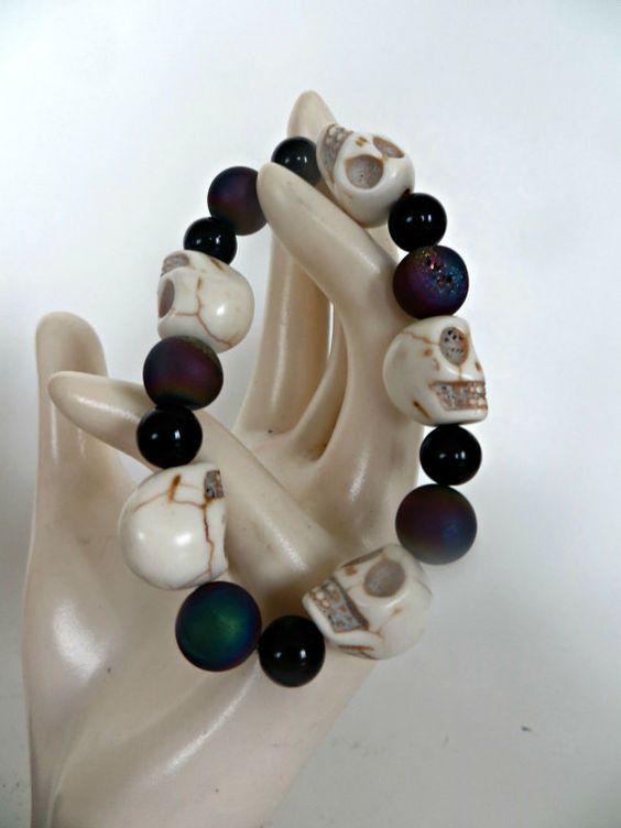 Handmade Bracelet Day of the Dead Los by FabulousFunFashion