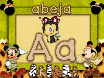 ABC mickey espanol manuscrito