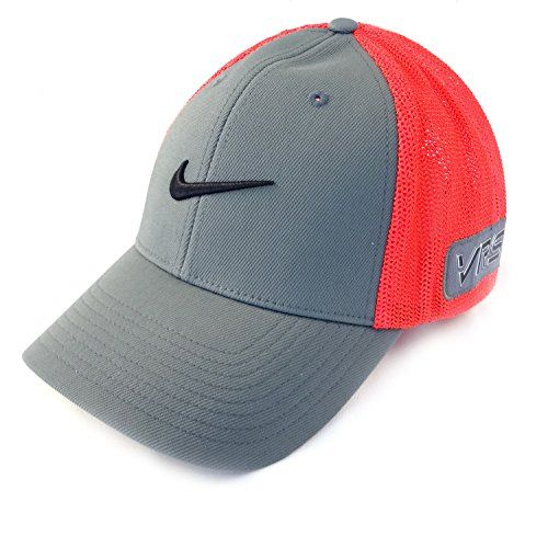 NEW Nike Rory McIlroy Tour Flex Fit RZN VRS S M Dark Grey Crimson Black Hat Cap  Nike  0f3044f0fc3