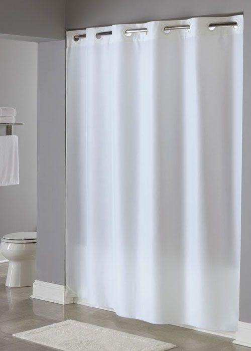 Plainweave Ada Compliant Hookless Shower Curtain A 100